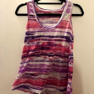 Striped Athletic Workout Tank